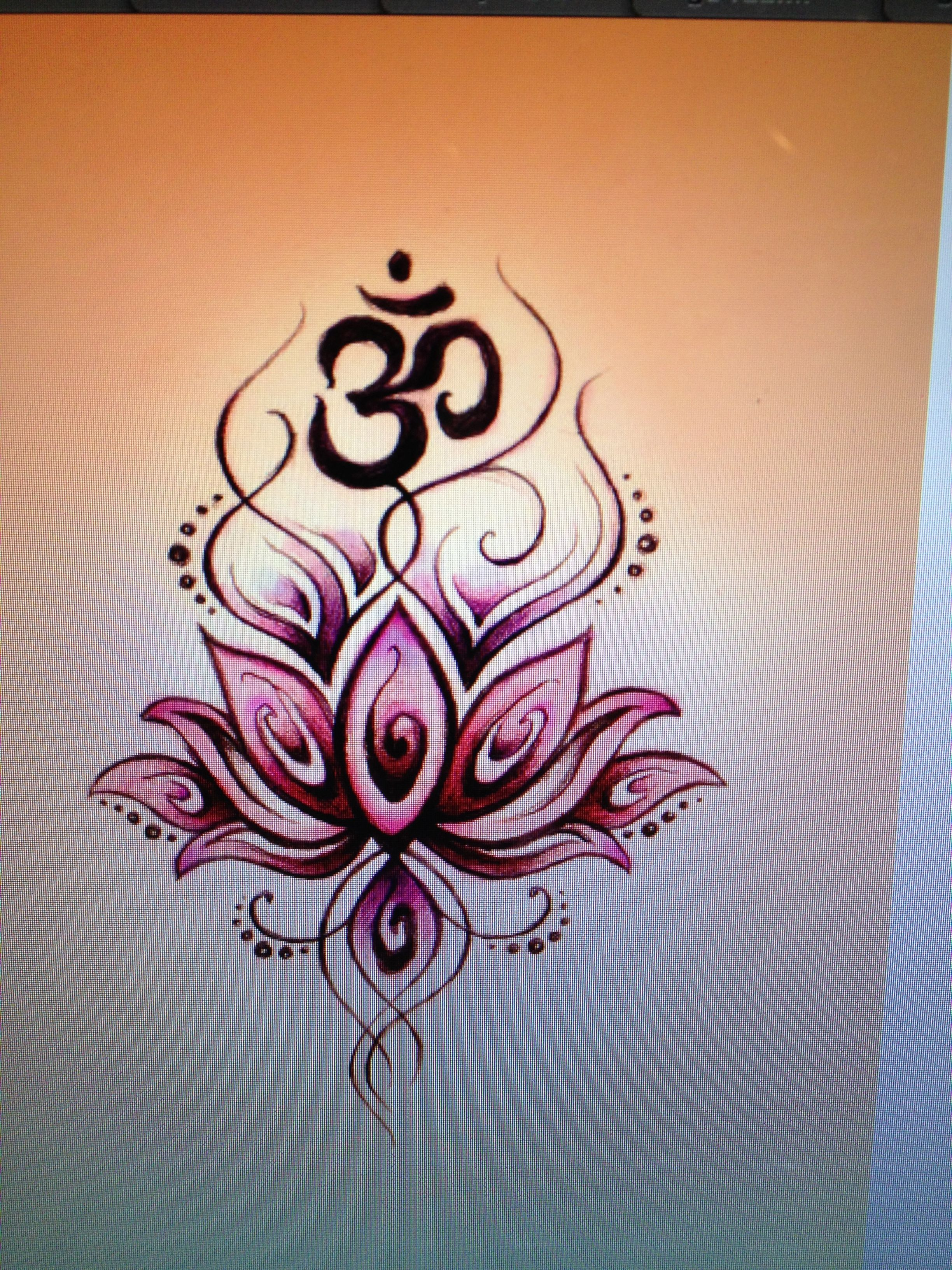 Om Lotus Tattoos Pinterest Lotus Om And Tattoo