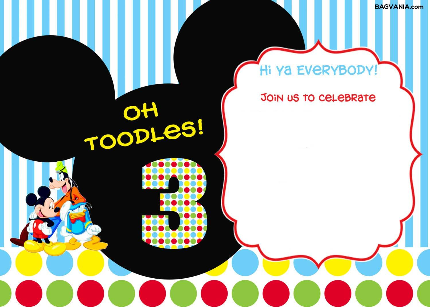 download free printable mickey mouse birthday invitations