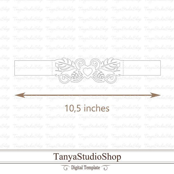 Belly band for 5x7\u0027\u0027 - SVG, DXF, ai, CRD, eps - Laser Cut Template