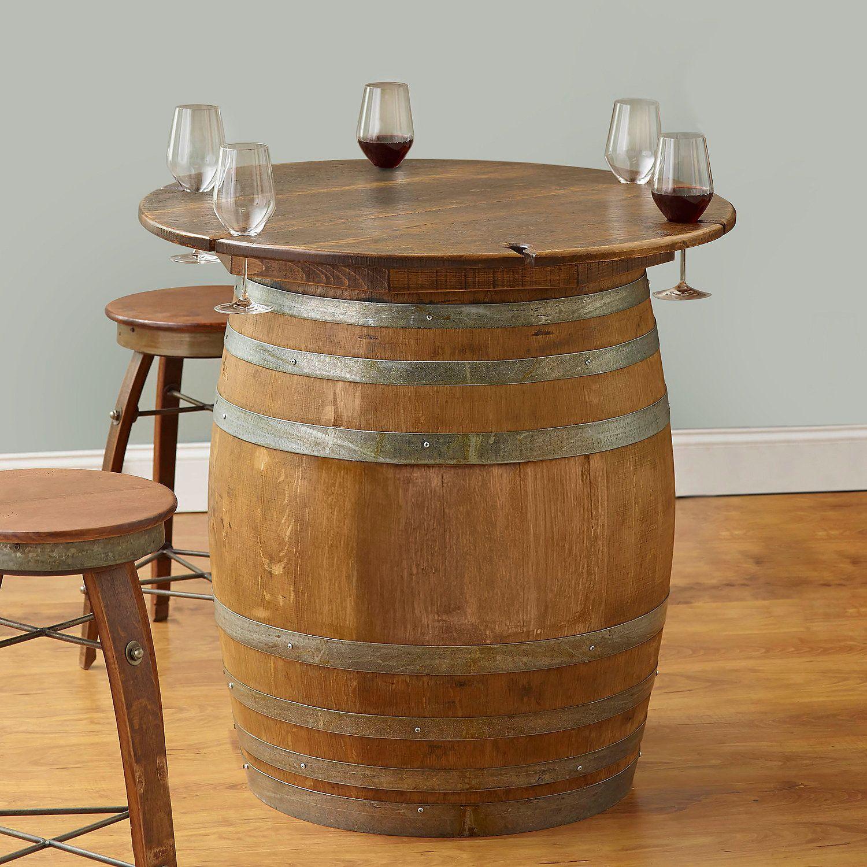 wine barrel furniture ideas you can diy or buy 135 photos rh pinterest com wine barrel tablecloth wine barrel table diy
