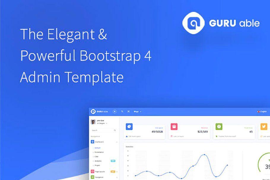 Guru Able Bs 4 Angular 4 Dashboard Website Template Angular Best Templates