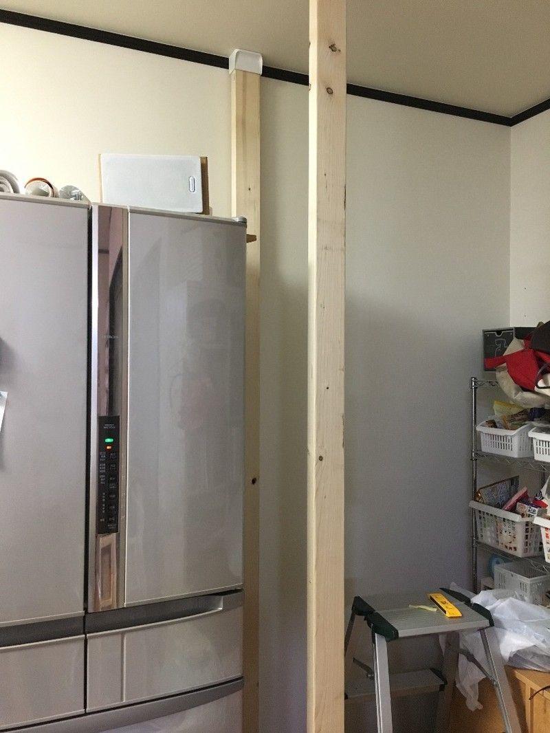 Diy キッチン横のスペースをパントリーにする計画 キッチン Diy