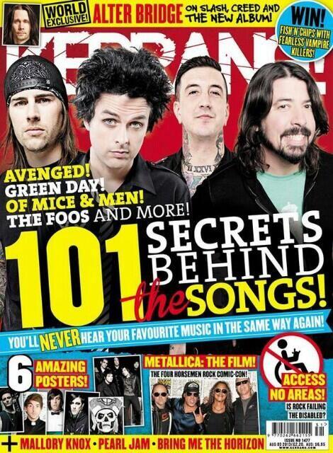 M. Shadows en la portada de la siguiente Kerrang! con póster de Synyster Gates