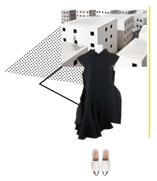 """""""Yellow line"""" by lilit123 ❤ liked on Polyvore featuring Comme des Garçons and Miu Miu"""