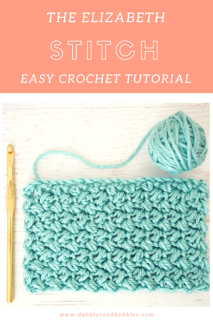 The Elizabeth Stitch - Easy Crochet Tutorial #crochetstitchestutorial
