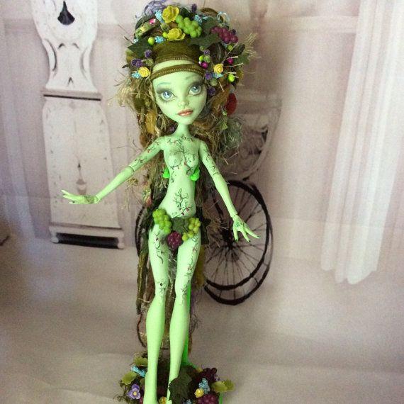 Monster Doll High Repaint. Vineyard Fairy. Final by BeaNMeDolls