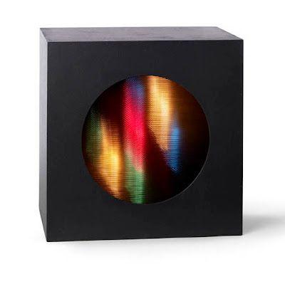 oracio García Rossi, Sturcture Couleur-Lumiere Changeante, Acrylic on wood, plexiglass, motor and lights. (1965-68)