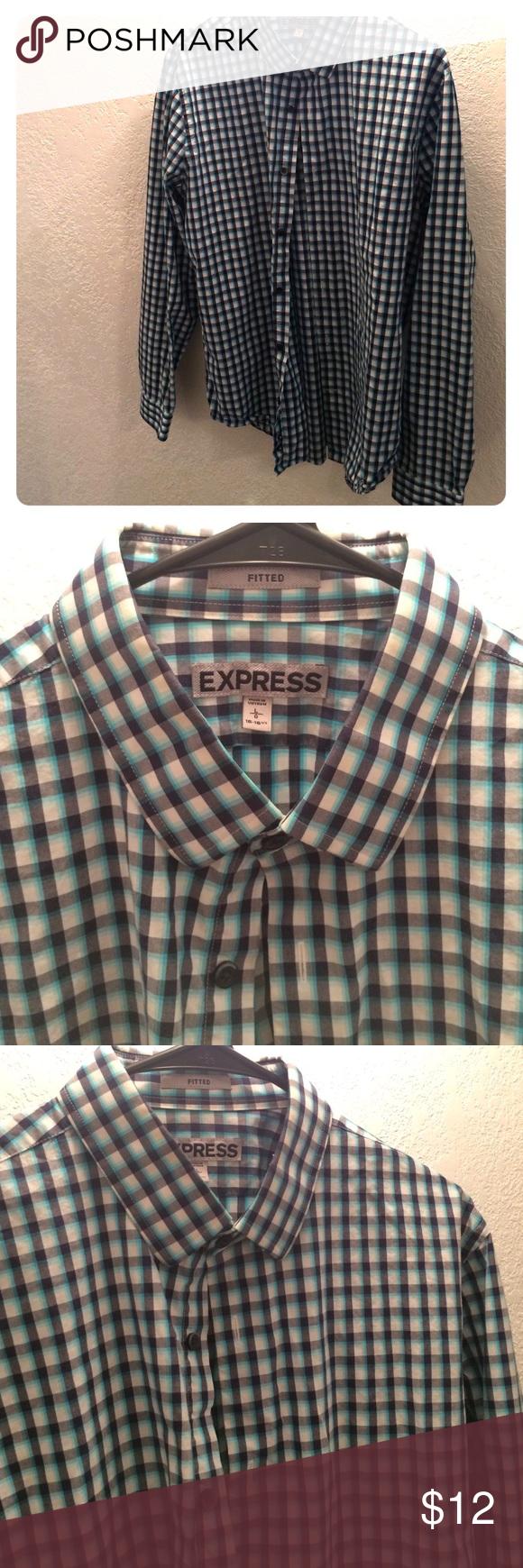 Mess EXPRESS dress shirt Large fitted 16-16 1/2 dress shirt. Like new. Worn only a few times. Express Shirts Dress Shirts