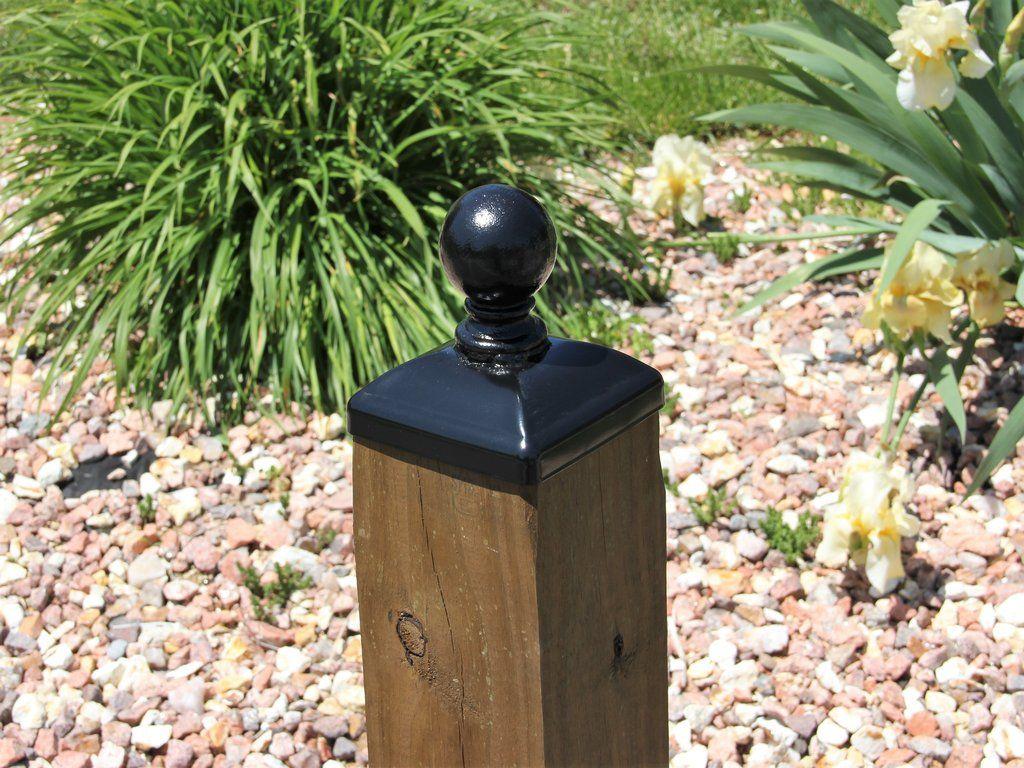 6x6 Cannonball Post Cap Post Cap Wood Post Fence Decor