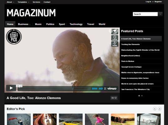 wordpress custom menu template - magazinum custom menus and widgets and login forms