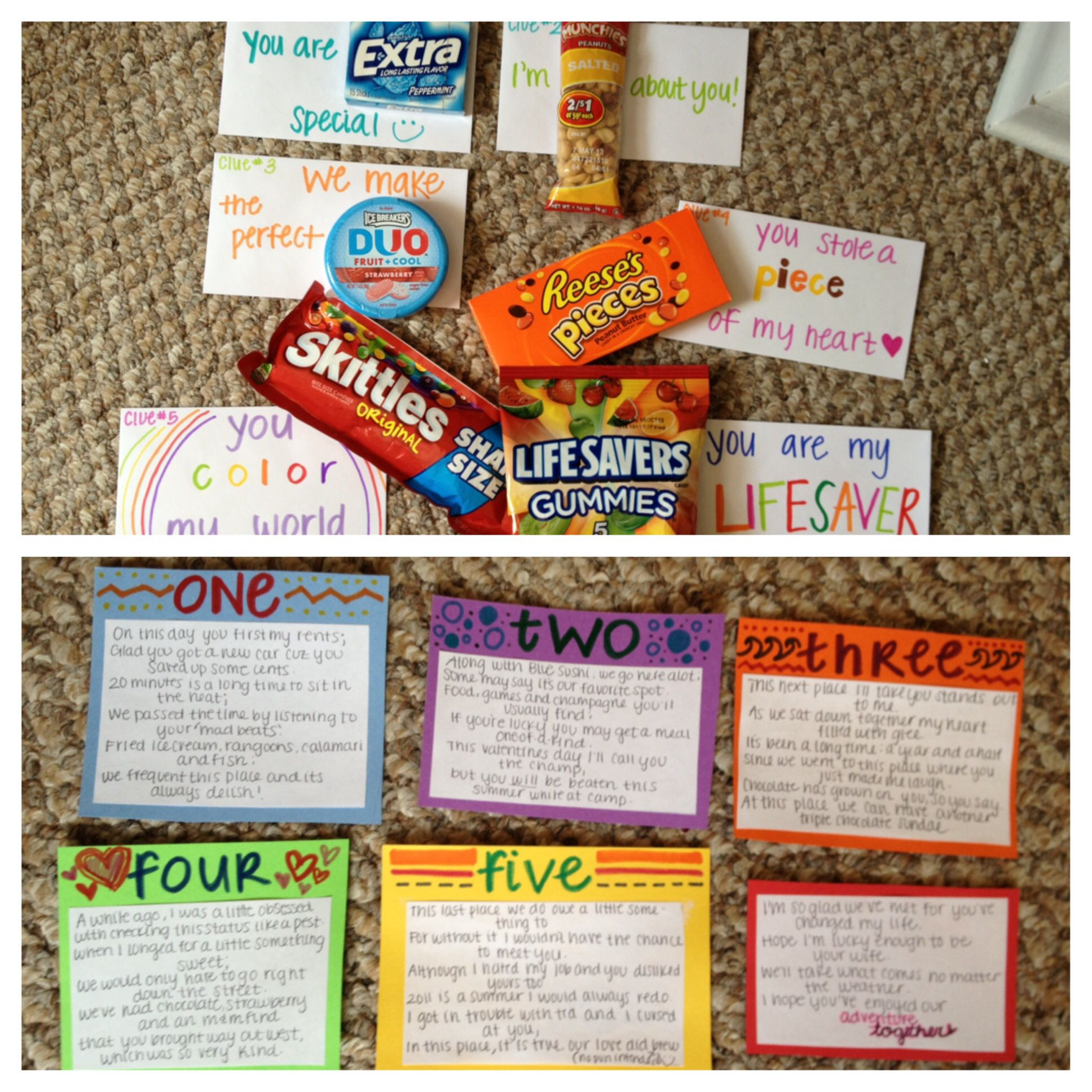 Valentines Gift/surprise For Your Guy. Scavenger Hunt To