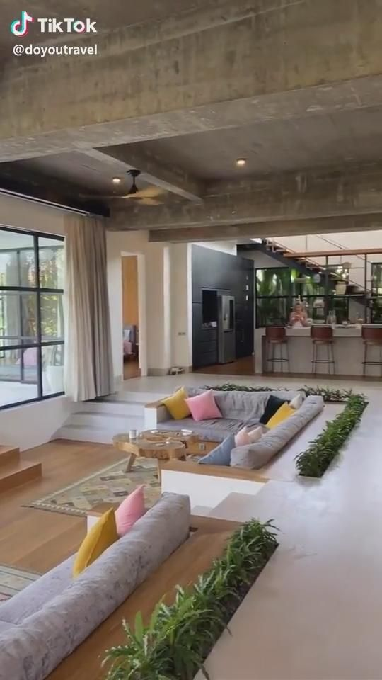 Living room and kitchen in Bali