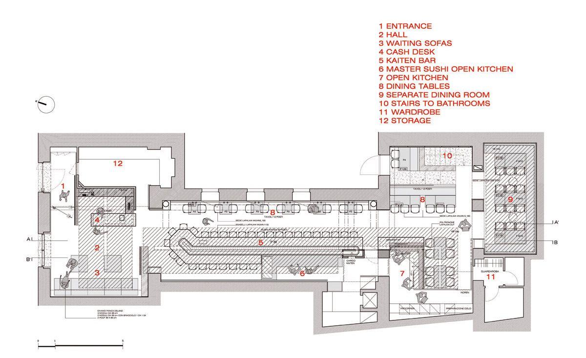 Gallery Of Zen Sushi Restaurant Carlo Berarducci Architecture 15