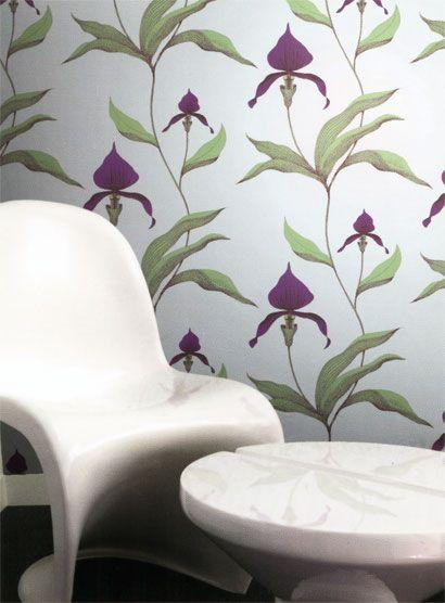 Tapete Orchid - Designtapete von Cole and Son 1268 Tapeten - wohnzimmer tapete grun