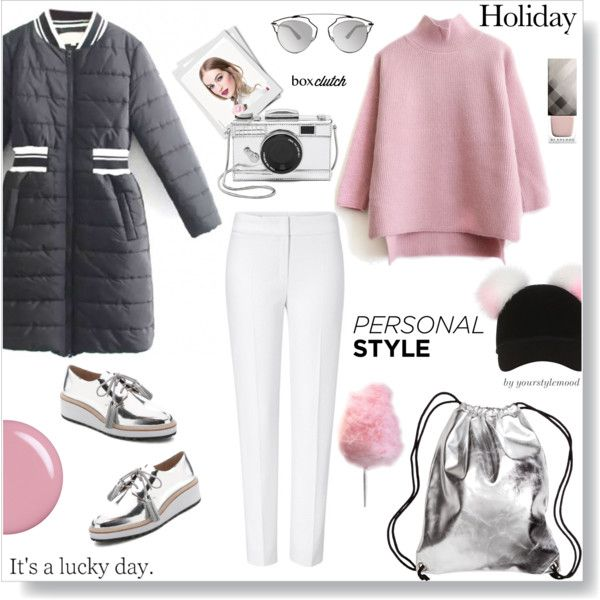 Lucky day in stylish comfy outfit by yourstylemood on Polyvore featuring ESCADA, Loeffler Randall, Kate Spade, Christian Dior, Charlotte Simone, Burberry, Paul & Joe, Cotton Candy, Chanel and women's clothing