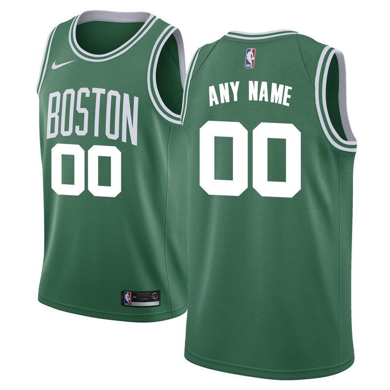 online store 10a50 4263e Boston Celtics Nike Swingman Custom Jersey Green - Icon ...