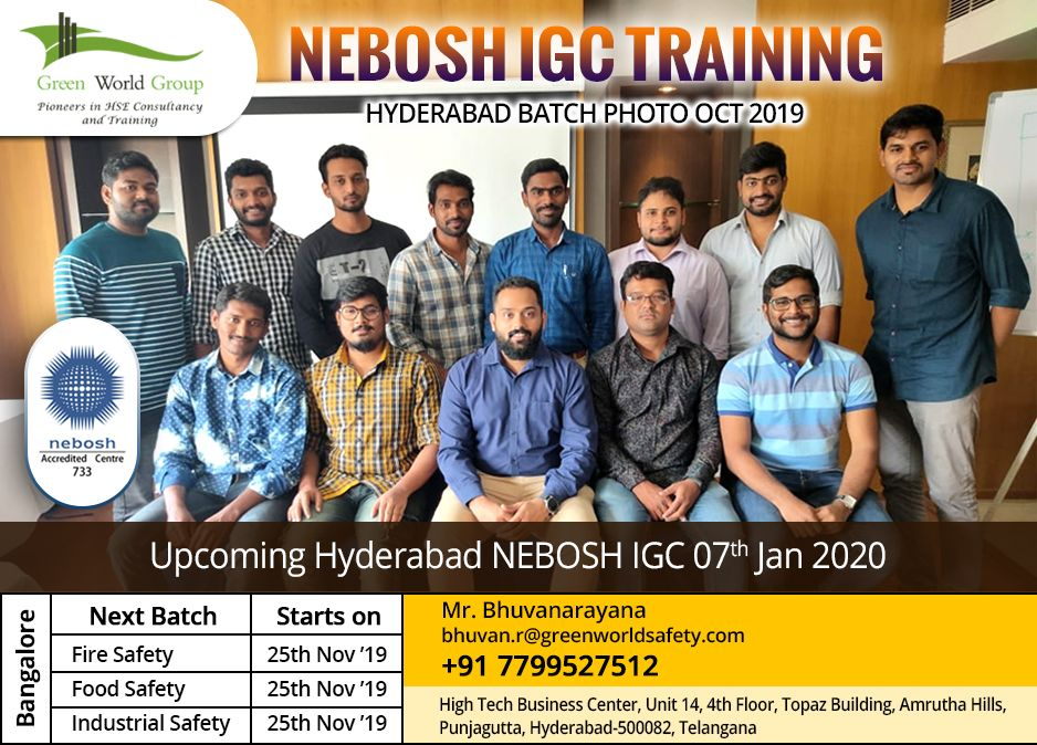 Nebosh IGC Safety course Training in Hyderabad Green