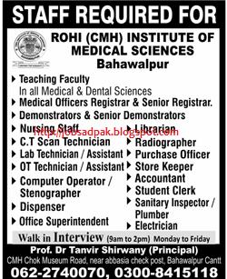 Daily Job advertisement in newspaper of world: Rohi ...