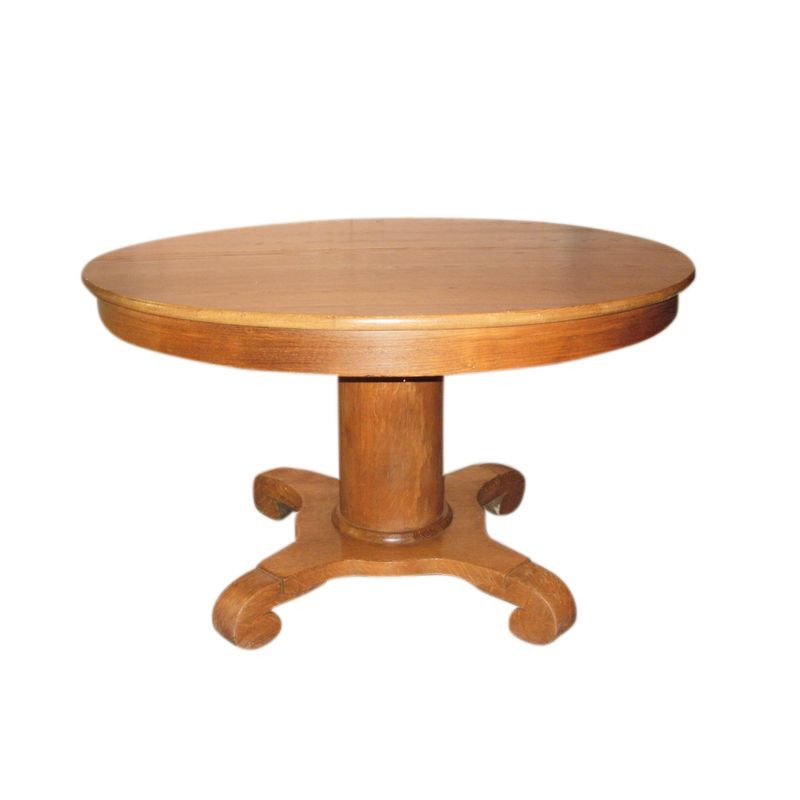 Antique Dining Room Table With Pull Out Leaves Round Dining Room Table Dining Table Round Oak Dining Table