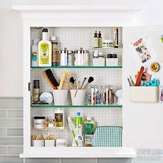 6 Ridiculously Easy Hacks To Make Thin Hair Look Thicker Medicine Cabinet Organization Bathroom Cabinet Organization Cabinet Organization