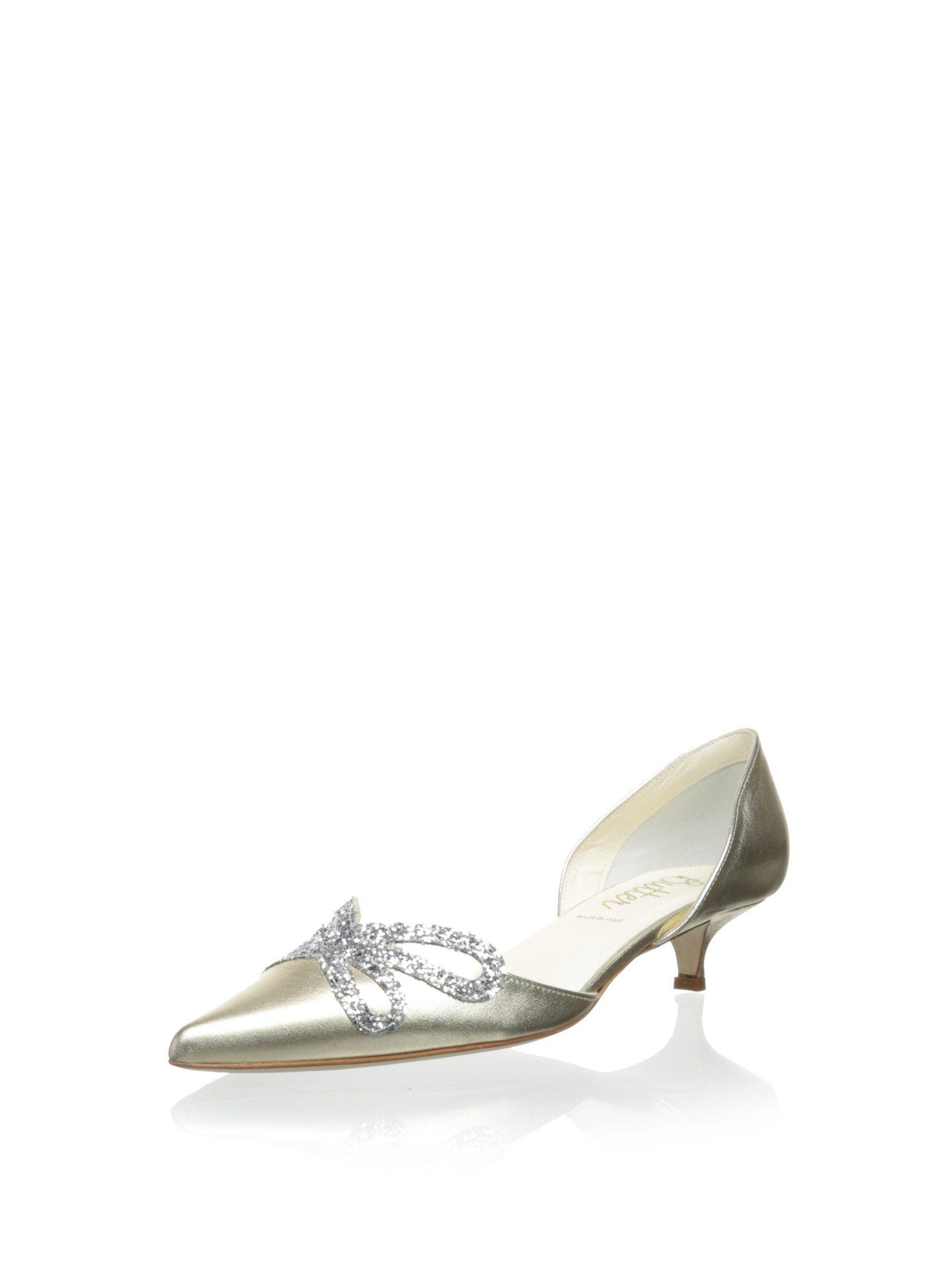 Butter Women S Darla Glitter Bow Kitten Heel At Myhabit Kitten Heels Fashion Amazon Fashion Clothing