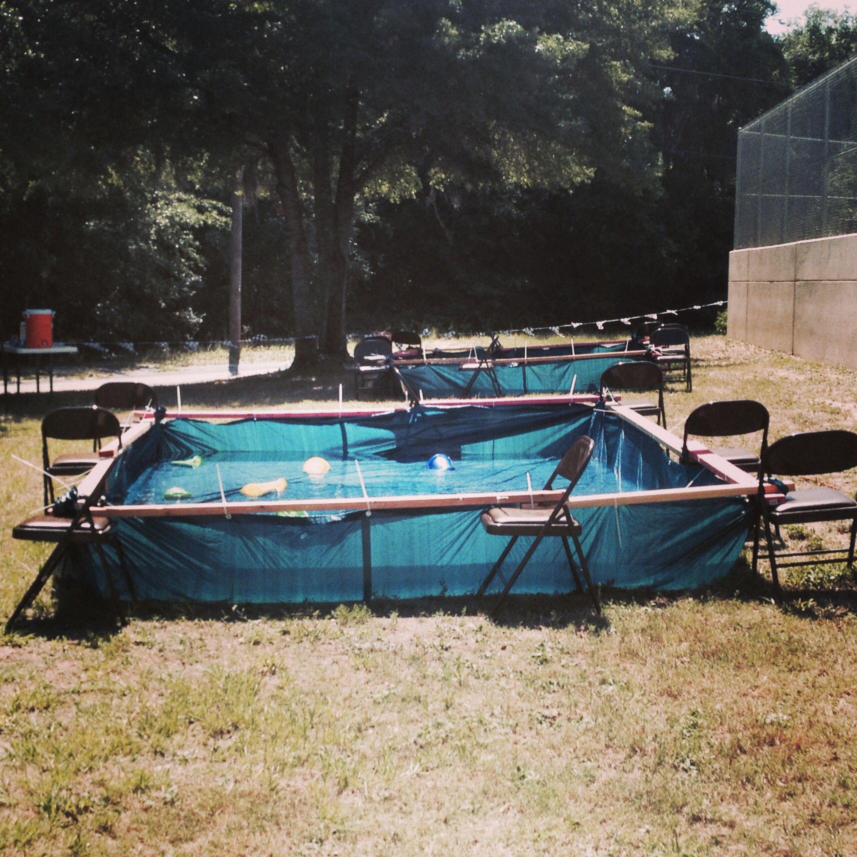 Redneck pool redneck parties pinterest redneck pool for Hay bail pool