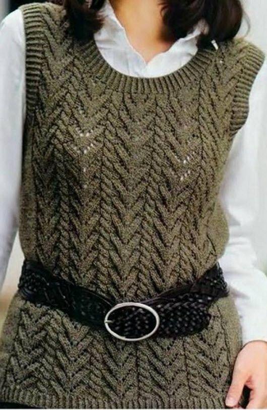 25 схем вязания жилета для женщин ией