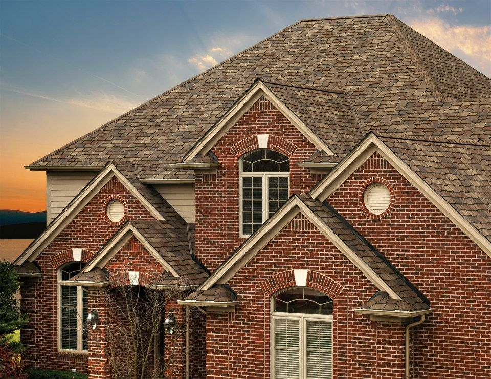GAF Woodland Shingles With Tuscan Sunset Coloring · Roofing SystemsRoofing  ...
