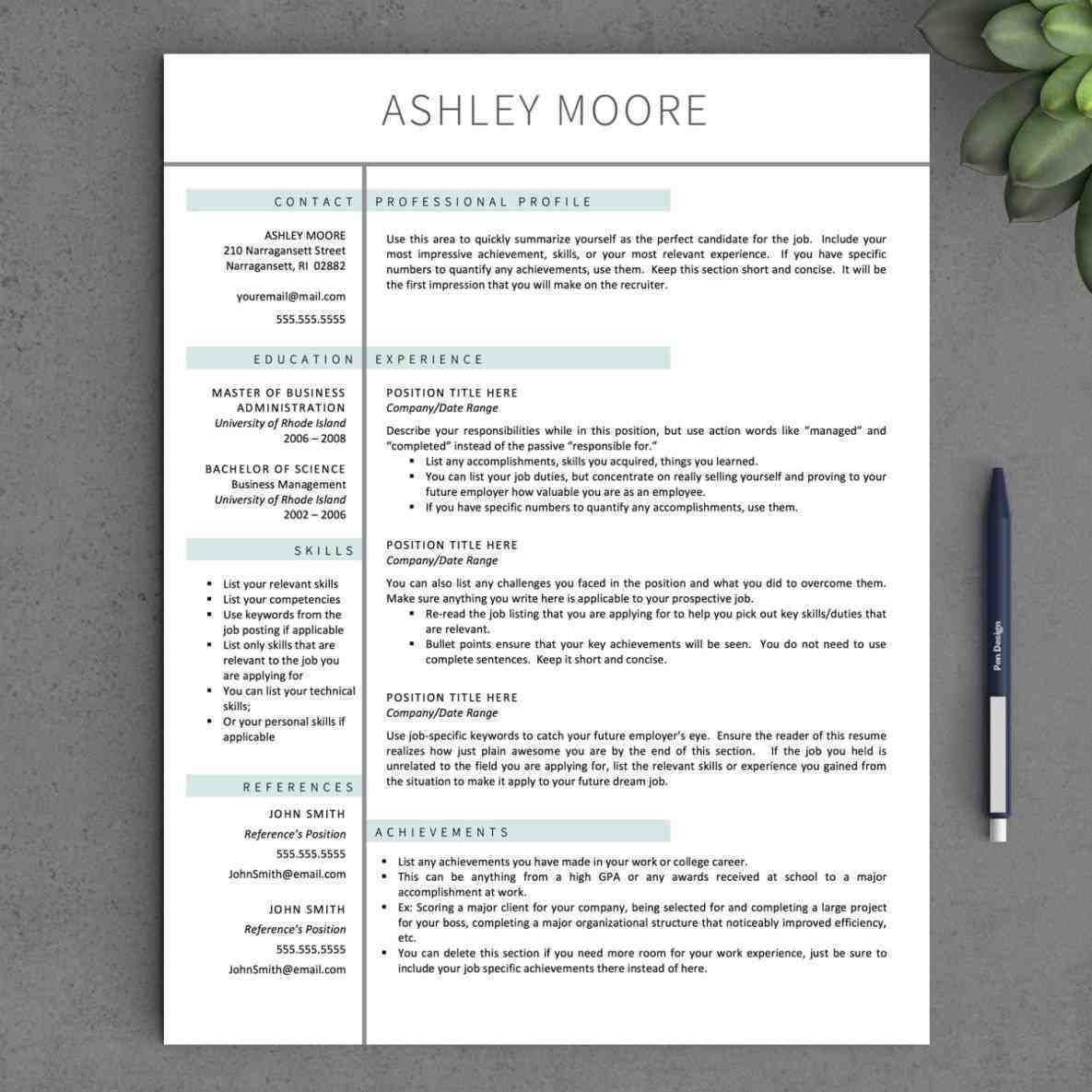 Pages Templates Resume Pages Templates New Resume Format And Cv Samples Template .