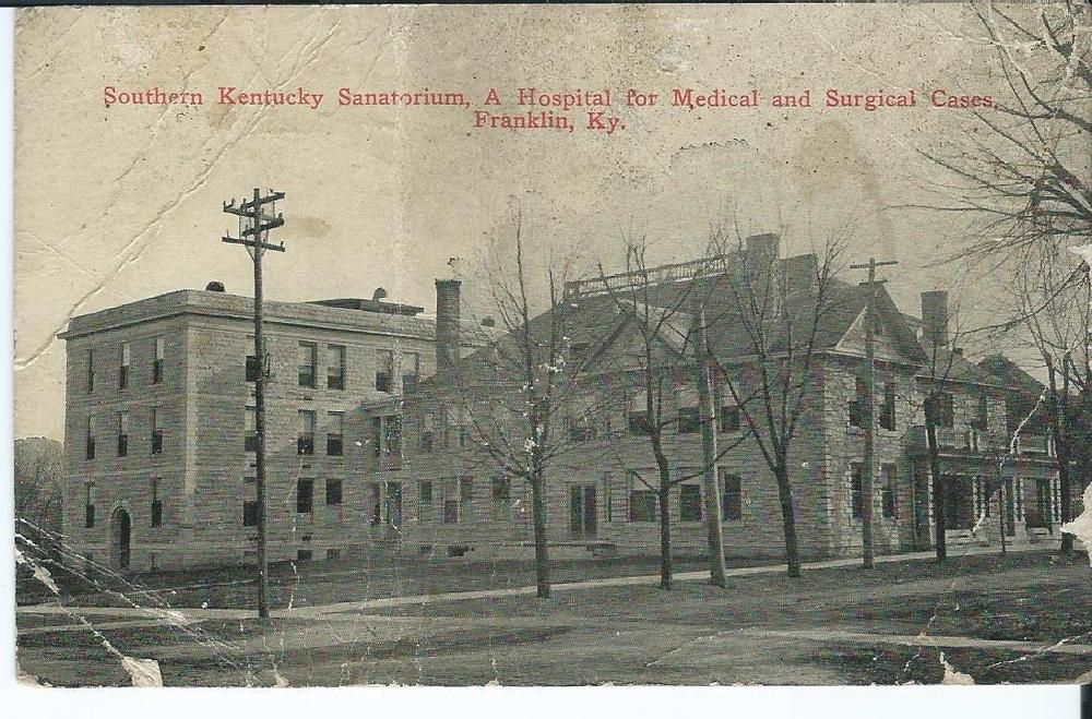 1921 Postcard Southern Kentucky Sanatorium Franklin Ky Message About Negroes Postcard Kentucky Franklin