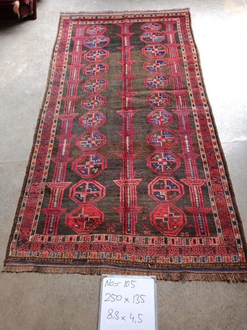 Handmade Afghan Wool Rug Free Shipping