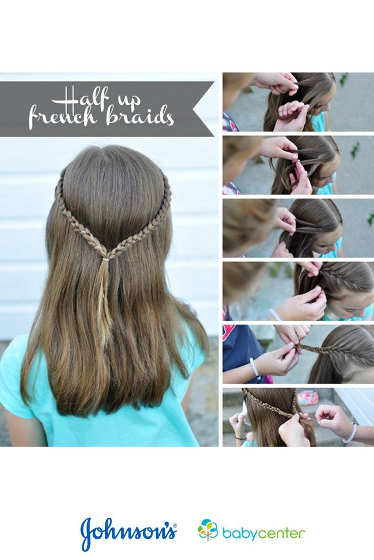 A stepbystep tutorial for simple hairstyles for girls via