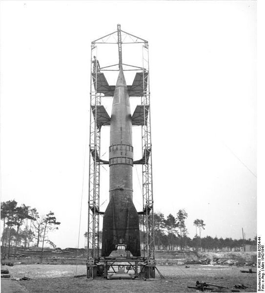 V2 Rocket (Aggregat 4) Ready to be launched March 1942