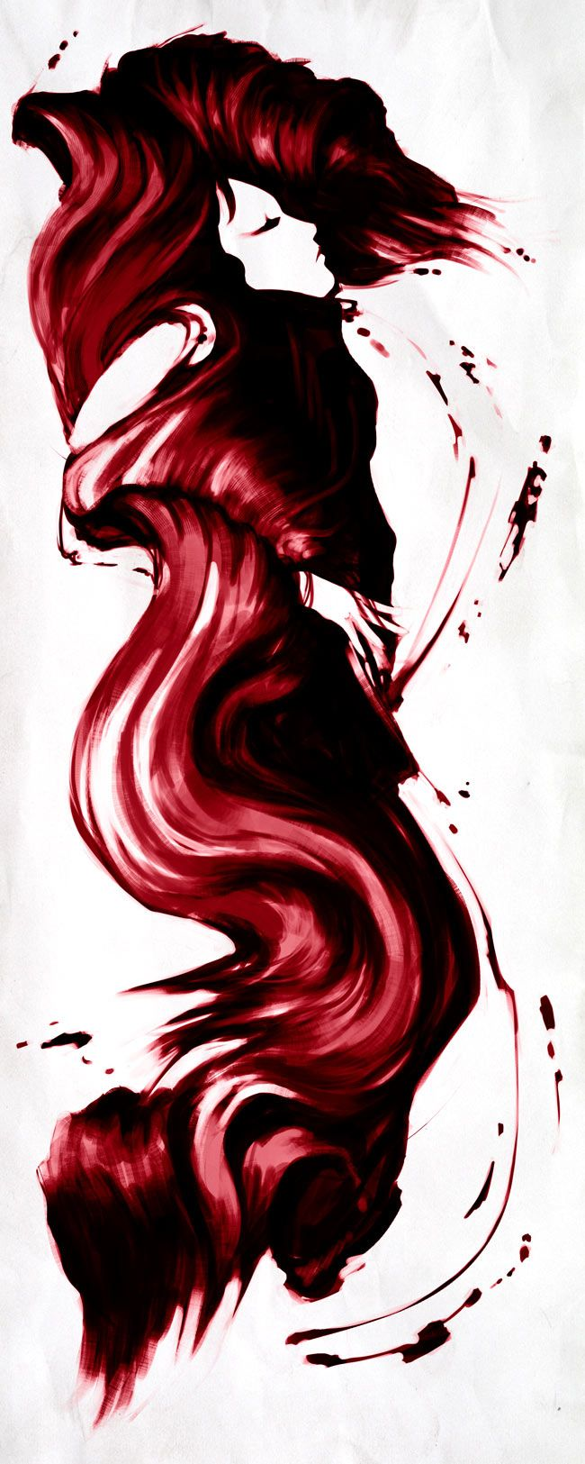 While Hanging Over The Table To Kiss My Best Friend In Tears I Dripped My Hair In Her Red Wine Beso De Vino Art Abstract Drawings