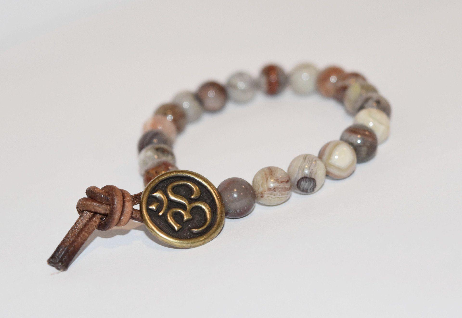 OM Button Bracelet - Intuition
