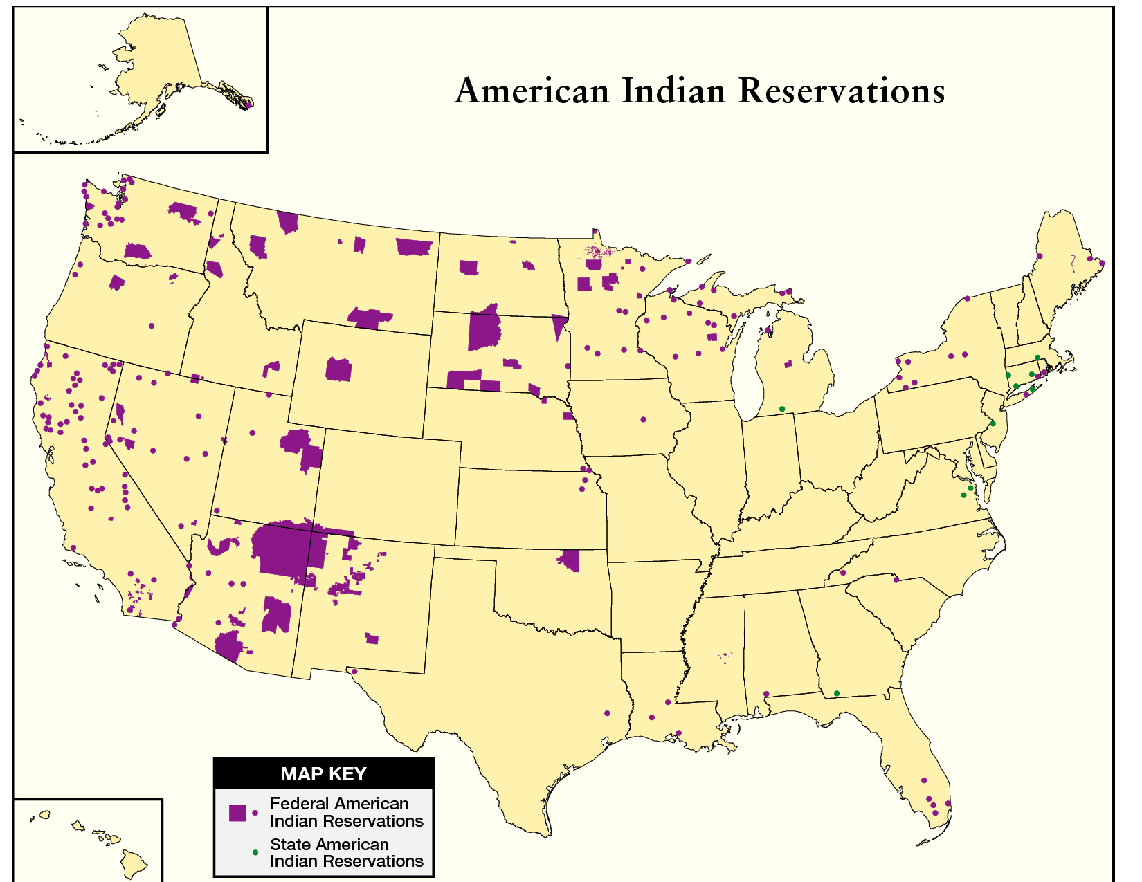 American Indian Reservations Native People Of North America - Native american map of america