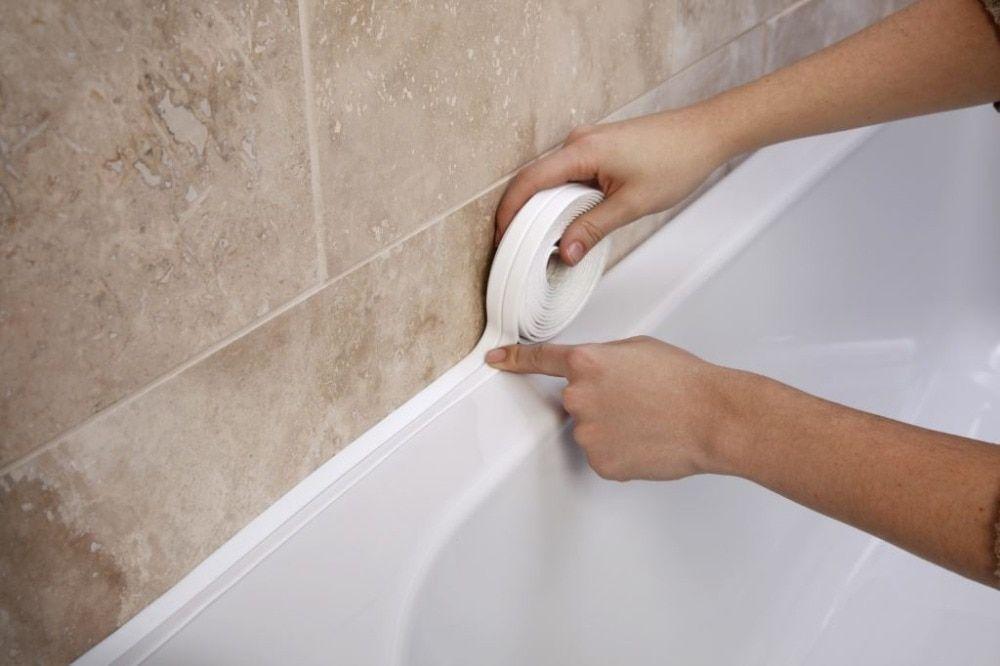 New Bathroom Shower Sink Bath Sealing Strip Tape White Pvc Self Adhesive Waterproof Wall Sticker For B Bathroom Wall Stickers Bathroom Sealants Bathroom Shower