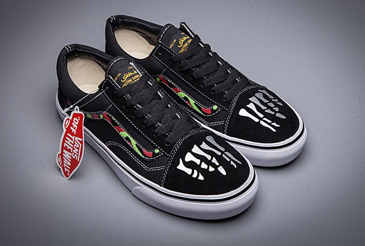 Vans Anarchy & Chaos Skeleton Old Skool Skateboard Shoes