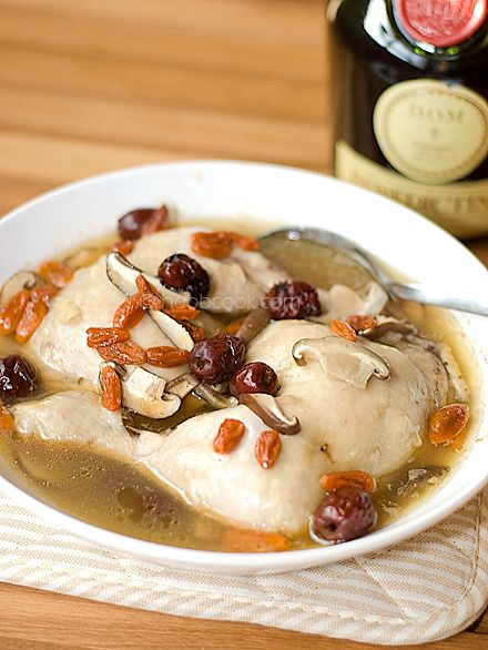 Steamed chicken with dom liquor favorite food pinterest dishes forumfinder Images