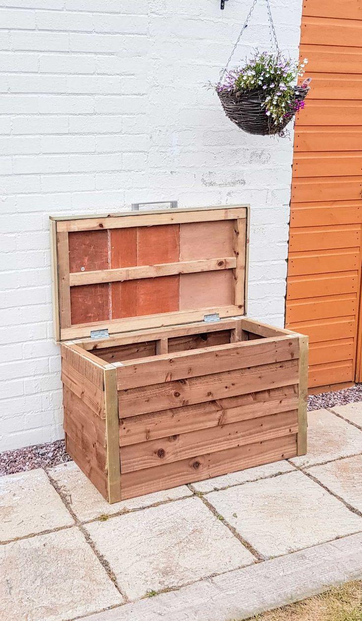 Garden Storage Box Diy Tutorial Garden Storage Outdoor Storage Boxes Patio Storage Box