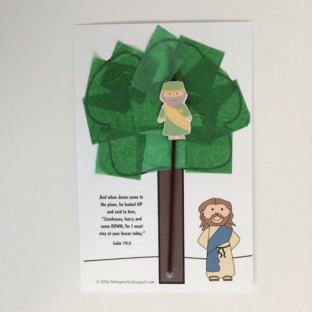Jesus Changed Zacchaeus\u0027 Heart Craft and Lesson Plan Sunday School