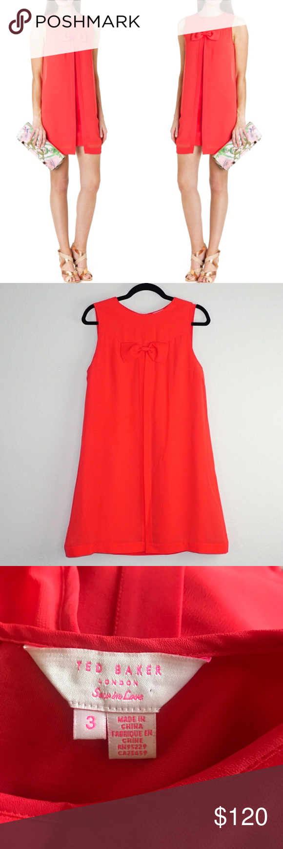 b1c956e5a1 Ted Baker Josa Bow Detail Swing Dress Perfect for the modern mod