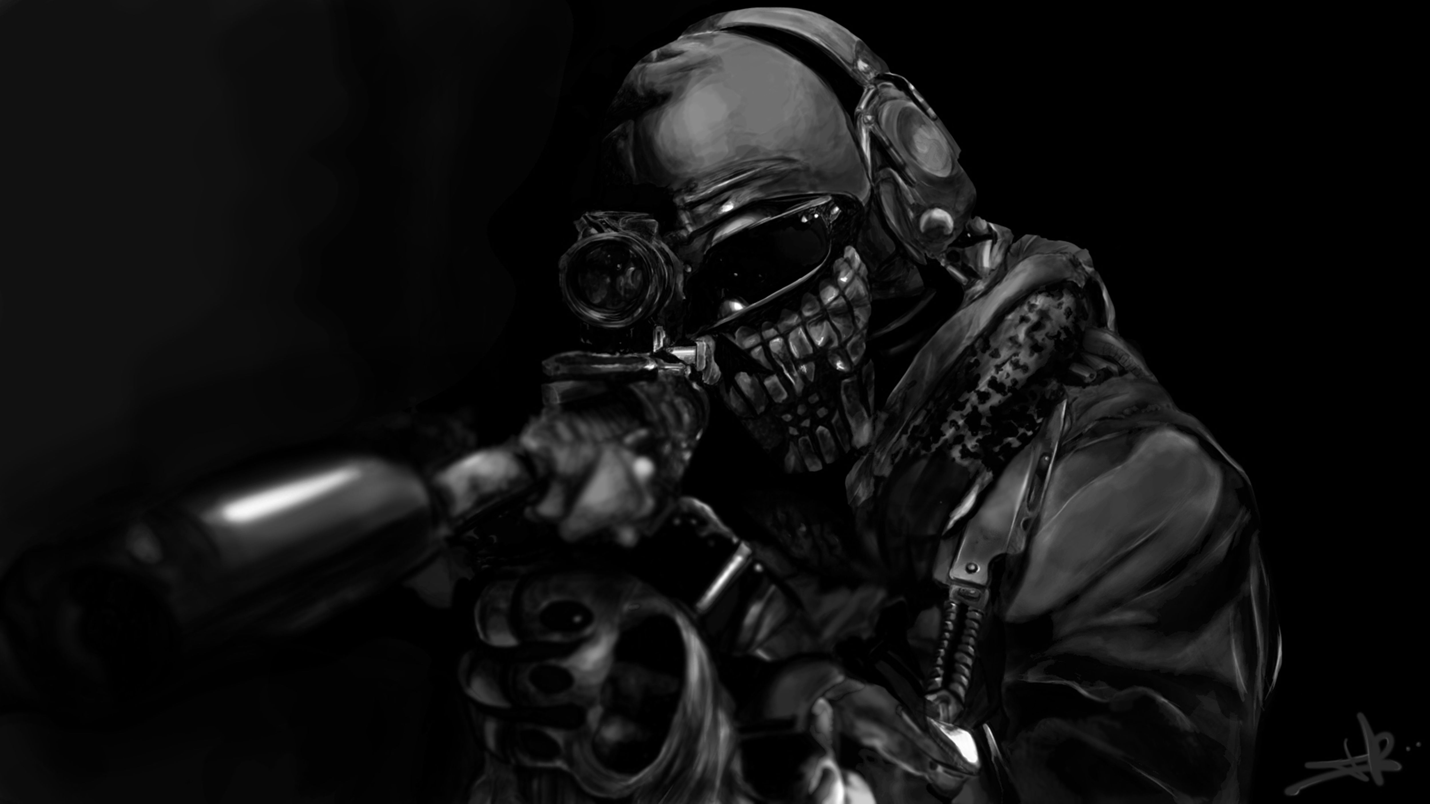 Action On Gun Violence >> Call of Duty warrior soldier weapon gun rs wallpaper | 5000x2813 | 151903 | WallpaperUP ...