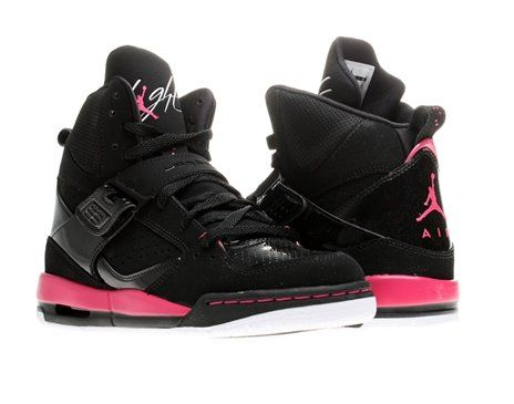 best loved 415b8 0559d GIRLS JORDAN FLIGHT 45 HIGH (GS) BLACK WHITE  VIVID PINK 524864-017
