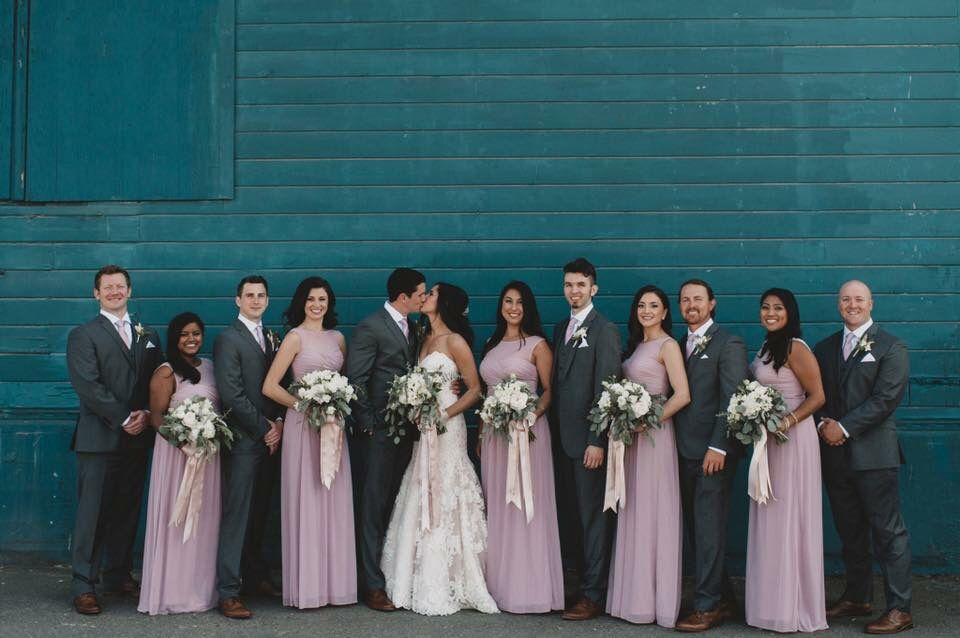 Bridesmaids dress: David's Bridal Color