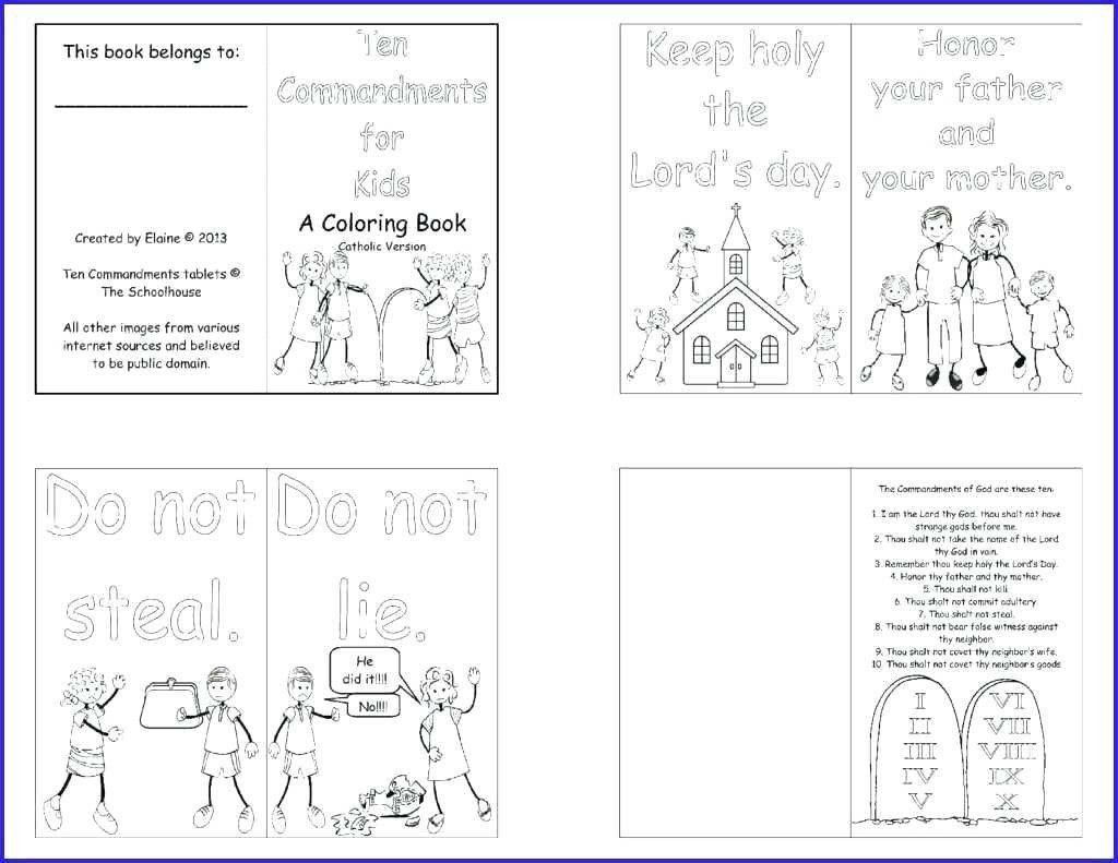 Ten Commandments Coloring Pages Inspirational Ten