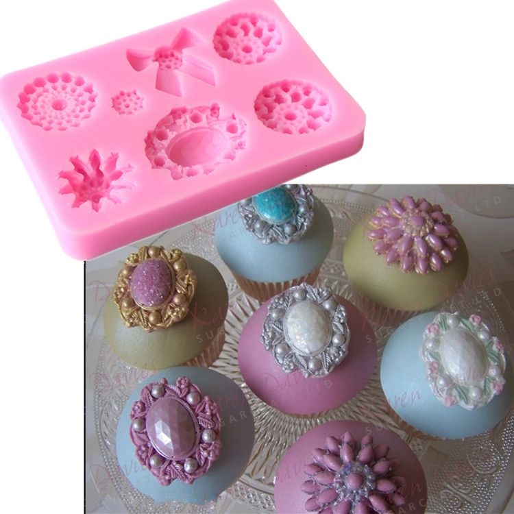 Diamonds Gems Silicone Mould for Cake Cupcake Decorate Jewelry Resin Craft