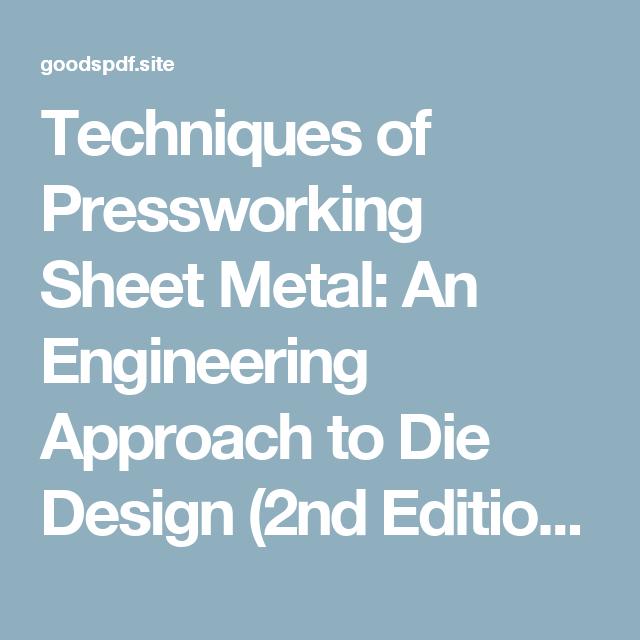 Sheet Metal Design Pdf