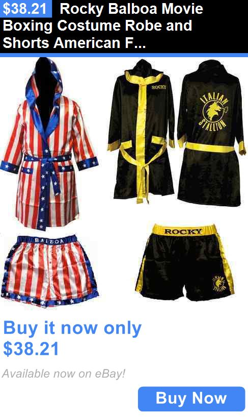 385358f7688 Halloween Costumes Men  Rocky Balboa Movie Boxing Costume Robe And Shorts American  Flag Italian Stallion BUY IT NOW ONLY   38.21