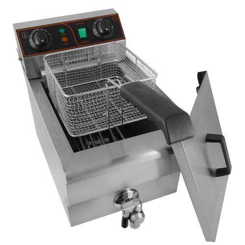 ARKSEN© 1500W Stainless Steel 10 Liter Electric Deep Fryer List Price: $279.99 Buy New: $129.99